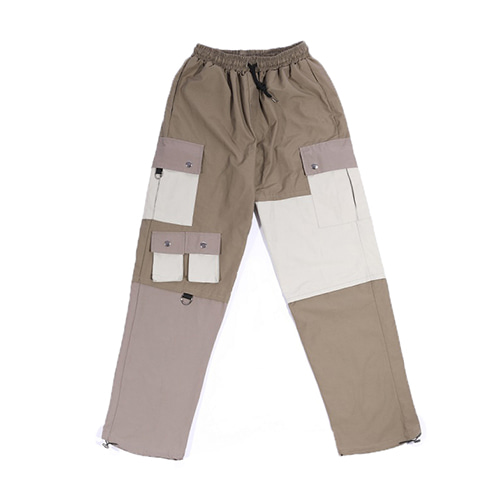 Poly Mix pants (Tan)